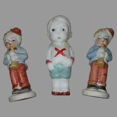Antique 3 Bisque Dolls