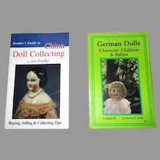 2 Vintage Doll Books