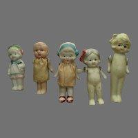 Vintage Group Japan Bisque Dolls