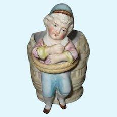 Antique Bisque Doll Figure Vase