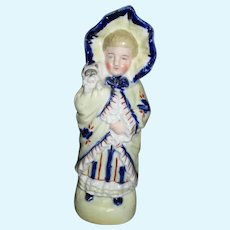 Antique Bisque Doll Figure.