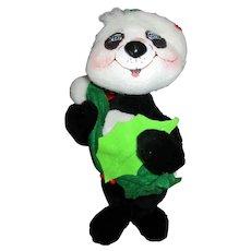 Christmas Annalee Panda Bear