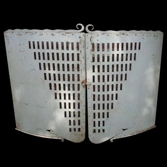 Anne Frank Art Deco Fire Fenders from the Anne Frank photograph 100% Original