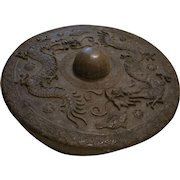 Antique 19th c  Bronze Dorsal Fin Naga Gong from Borneo