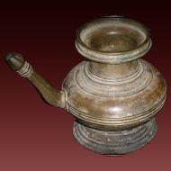 Antique KARUWA ritual bronze pot ewer with spout
