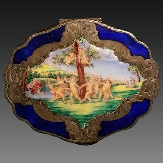 Silver and Enamel Florentine Compact