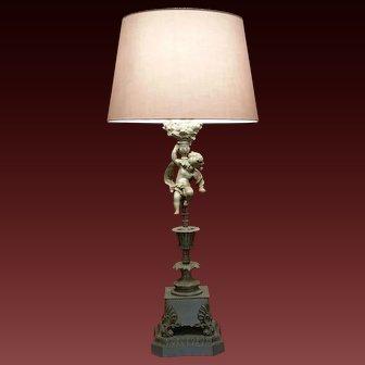 French Figural Putti  / Cherub Lamp