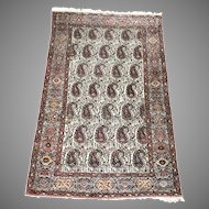 Sarough Hamadan Rug Wool Boteh Paisley  6.33' x 4.33 FT