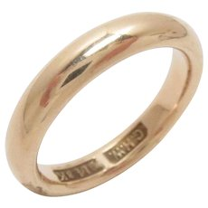 Vintage 14 Kt Gold Wedding Eternity Band Ring Size 6.25,