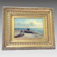 Antique Oil on Canvas James Bradley Signed Dated 1880 Original