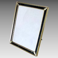 "Vintage Picture Frame Tabletop Brass Gold Dore Large 9"" x 11"""