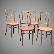 Four Chairs Original J.& J. Kohn Co Signed Viennese 19th Century