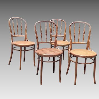Four Chairs Original J.& J. Kohn Co Signed Viennese 19th Century