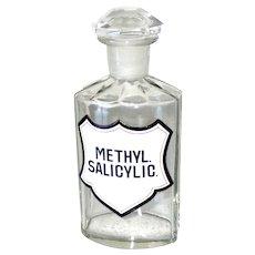 Antique Medicine Glass Bottle Apothecary Pharmacy Original 1880s