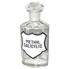Apothecary Pharmacy Medicine Glass Bottle Original Antique 1880s