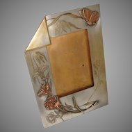"""Picture Frame Arts and Crafts Copper Brass Antique Easel Back 10"""" x 7.25"""""""