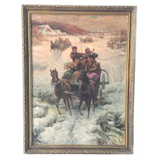 Russian Oil Painting Winter Original