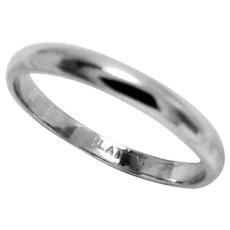 Vintage Platinum Band Ring Wedding Eternity  Size 5.75