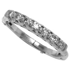 Vintage Platinum Wedding Band Diamonds Expending Arthritis