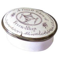 Antique Box Patch Trinket Enamel Brass Battersea 18th C