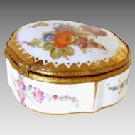 Antique Porcelain Trinket Dresser Jewelry Box