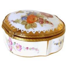 Antique Porcelain Trinket Dresser Jewelry Box