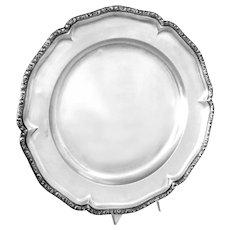 "Antique Silver Tray Austro-Hungarian Round 13.25"" diameter 930 grams"