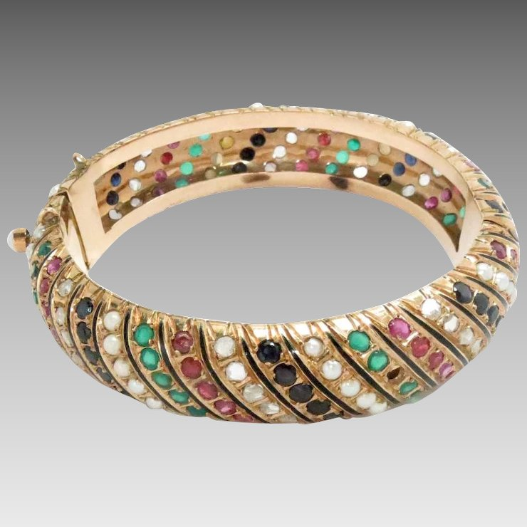 large bangles designs bracelet online kada zoom buy diamond ruby bangle maroon and designers accessories jewellery bhamini