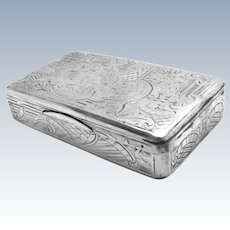 Antique Russian 84 Silver Snuff Trinket Pill Box 1848 Moscow