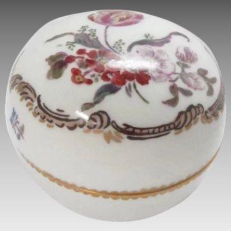 Antique Porcelain Covered Bowl Dish Trinket  Candy