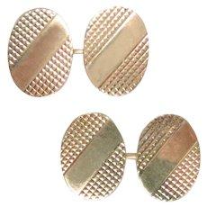 Vintage Cufflinks 14K Gold Double Sided Arrow Jewelry Co