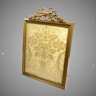"""Antique French Picture Frame Bronze Gilt Empire Style 6.5"""" x 8.75"""""""