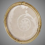 Picture Frame Bronze Dore Round Easel or Hanging Back Antique 19th C