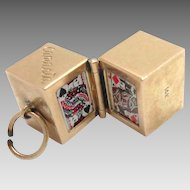 Vintage 14 Kt Charm Playing Cards Canasta Miniature