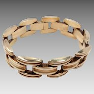 Vintage Bracelet 14Kt Yellow Gold Retro 7""