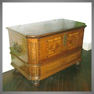 Antique Dowry Blanket Chest Trunk 18th - 19th C Continental