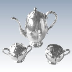 Vintage 3 Piece Sterling Silver Coffee or Tea Set Meyers Mexico