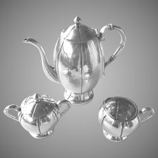 Sterling Silver Coffee or Tea Set Vintage 3 Piece Meyers Mexico