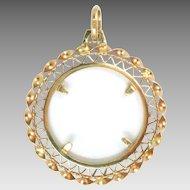 Coin Holder Frame Pendant 18K Rose Gold Vintage