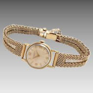 IWC 18k Ladies Watch Yellow Gold 14 K Gold Band Vintage