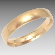 Vintage 22 Kt Wedding Band Yellow Gold Size 8 , 4 mm Wide