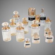 Set of 14 Bottles Perfume and Eau De Toilette Balenciaga Collectible Vintage