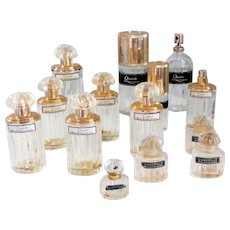 Set of 14 Bottles Perfume and Eau De Toilette Balenciaga Collectible Vintage