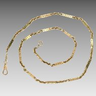 "Vintage 14Kt Yellow Gold Chain Necklace 19.5"" L"