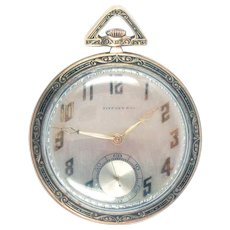 Tiffany Pocket Watch 18 Kt Gold Art Deco C. H. Meylan 21jewels