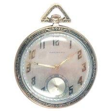 Tiffany Pocket Watch 18 Kt Gold Art Deco C. H. Meylan  21 jewels