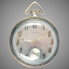 Tiffany Pocket Watch 18 Kt Gold Art Deco C. H. Meylan  21 jewels
