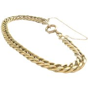 Victorian 14 Kt Gold Chain Link Bracelet Antique