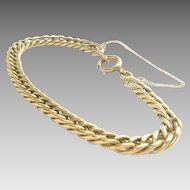 "Antique Victorian 14 Kt Gold Chain Link Bracelet 8"" L 20.6 g."