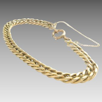 "Antique Victorian 14 Kt Gold Chain Link Bracelet 8"" L 20.6 g."